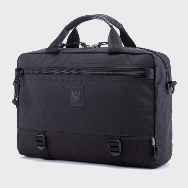 product: Topo Designs Commuter Briefcase X-Pac Black/Ballistic Black