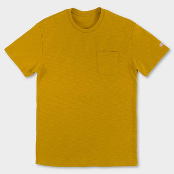 product: TOPO Designs Heavyweight Pocket T-shirt Mustard