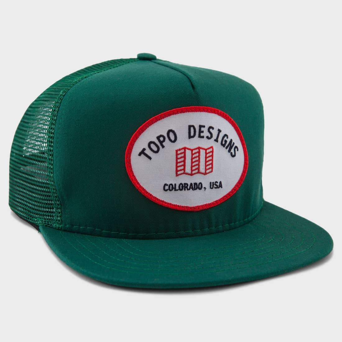 TOPO Designs Snap Back Hat Green