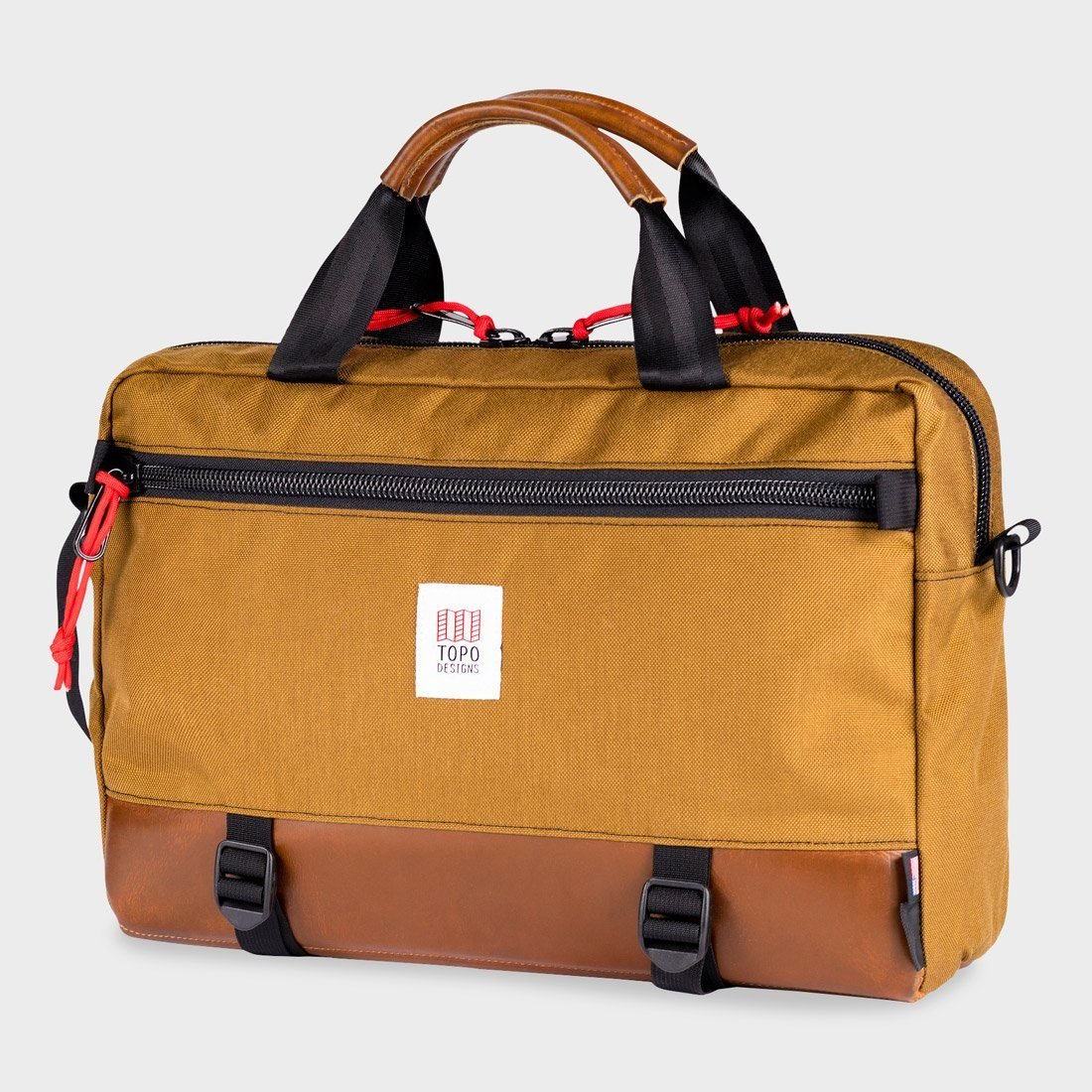 Topo Designs Commuter Briefcase Duck Brown/Brown Leather