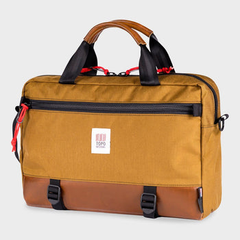 product: Topo Designs Commuter Briefcase Duck Brown/Brown Leather