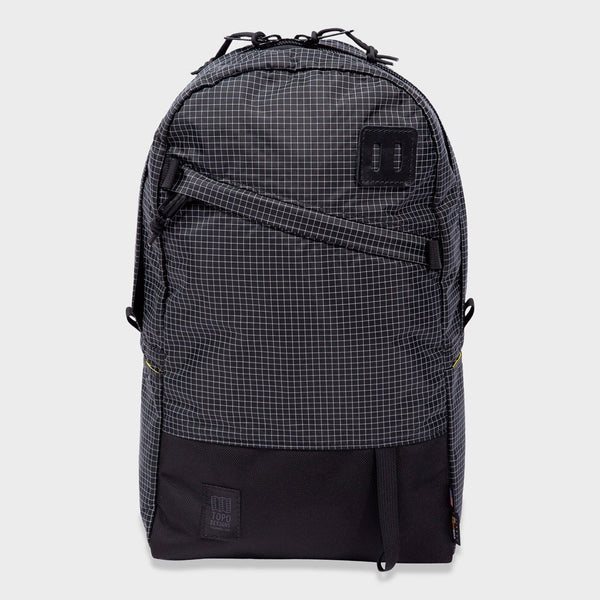 product: Topo Designs Daypack Backpack Black/ White Ripstop