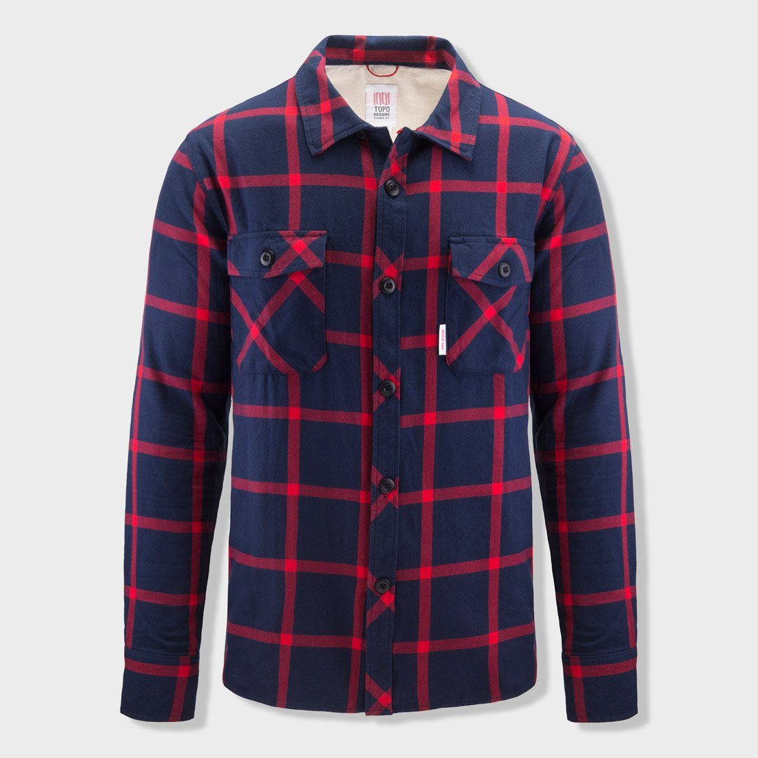 Topo Designs Field Shirt Plaid Navy Red