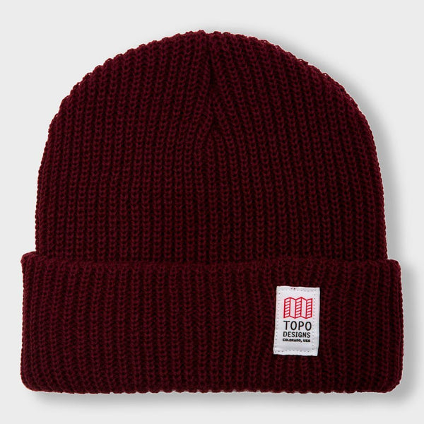 product: Topo Designs Heavy-Weight Watch Cap Burgundy