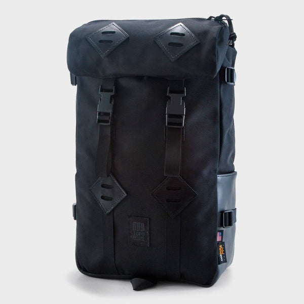 product: Topo Designs Klettersack Ballistic Black/ Black Leather