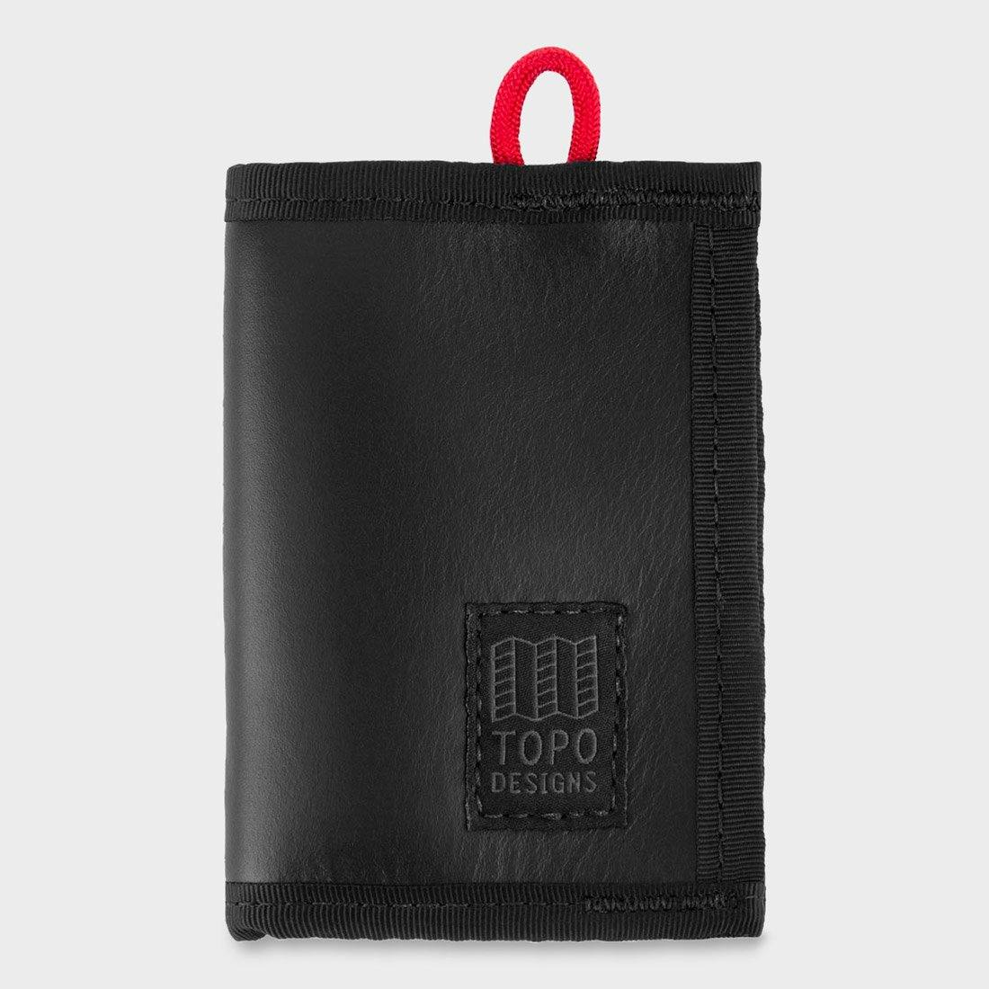 Topo Designs Leather Wallet Black