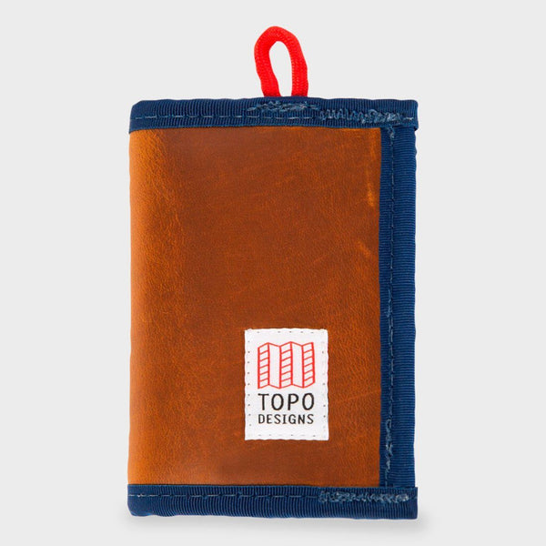 product: Topo Designs Leather Wallet Brown