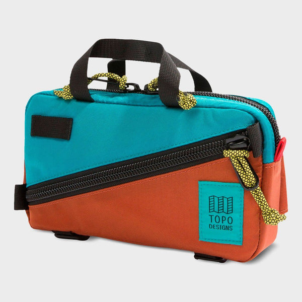 product: Topo Designs Mini Quick Pack Clay/ Turquoise