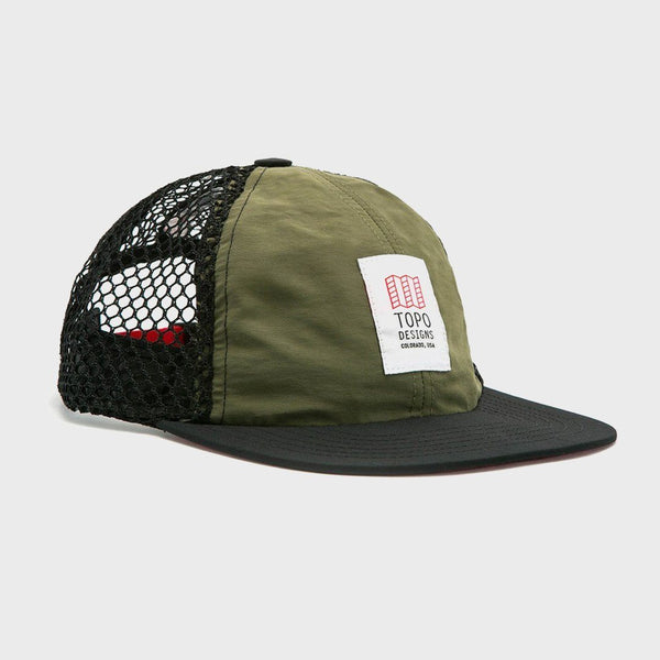 product: TOPO Designs Nylon Ball Cap Olive Black