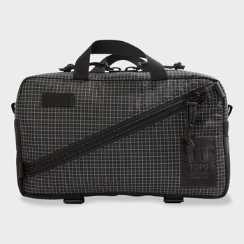 product: Topo Designs Quick Pack Black/ White Ripstop