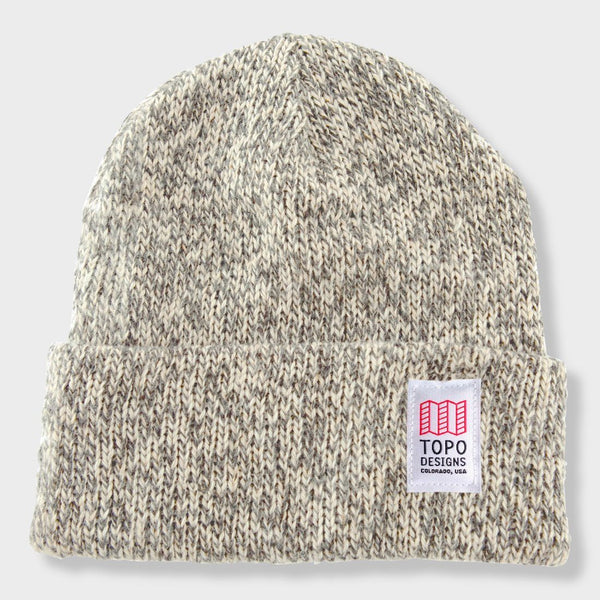 product: Topo Designs Ragg Cap Beanie Charcoal