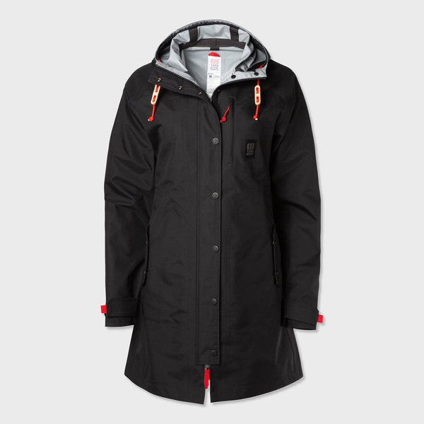 product: Topo Designs Women's Rain Coat Topo Black
