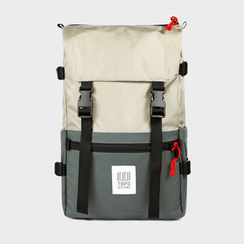 product: Topo Designs Rover Pack Silver/ Charcoal