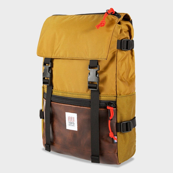 product: Topo Designs Rover Pack Heritage Duck Brown/Brown Leather