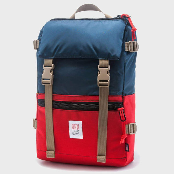 product: Topo Designs Rover Pack Navy / Red