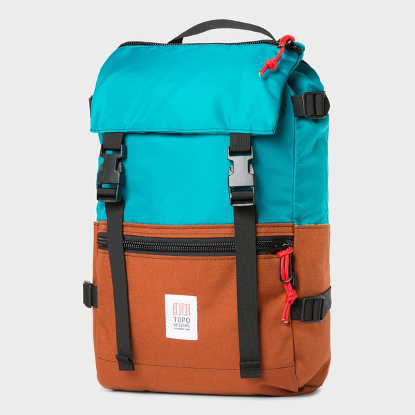 product: Topo Designs Rover Pack Turq/Clay
