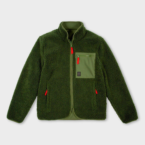 product: Topo Designs Women's Sherpa Jacket Olive/ Olive