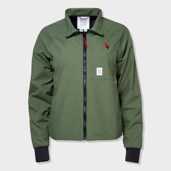 product: Topo Designs Women's Wind Jacket Olive
