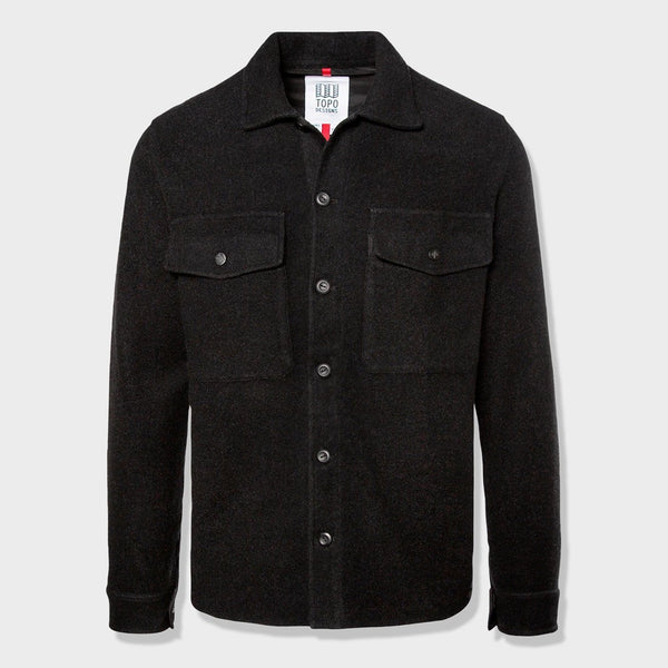 product: Topo Designs Wool Shirt Black