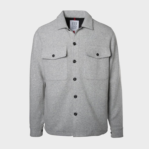 product: Topo Designs Wool Shirt Grey