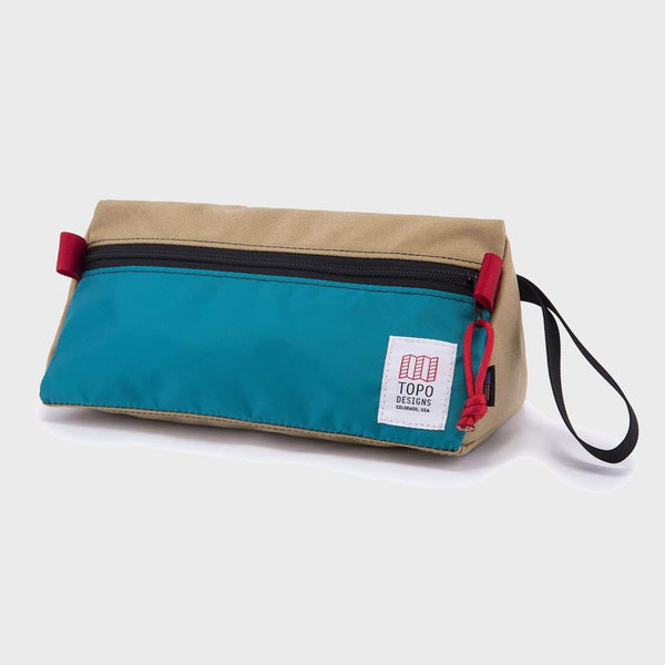 product: Topo Designs Dopp Kit Khaki/ Turquoise
