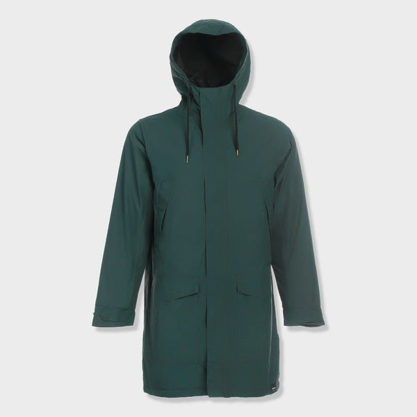 product: Tretorn Rain Jacket From the Sea Padded Kelp Green