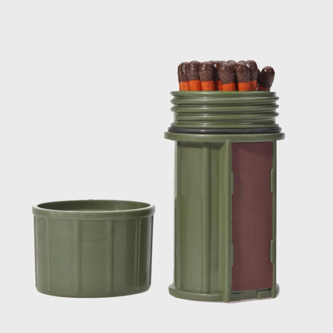 UCO Match Container with Matches Dark Green
