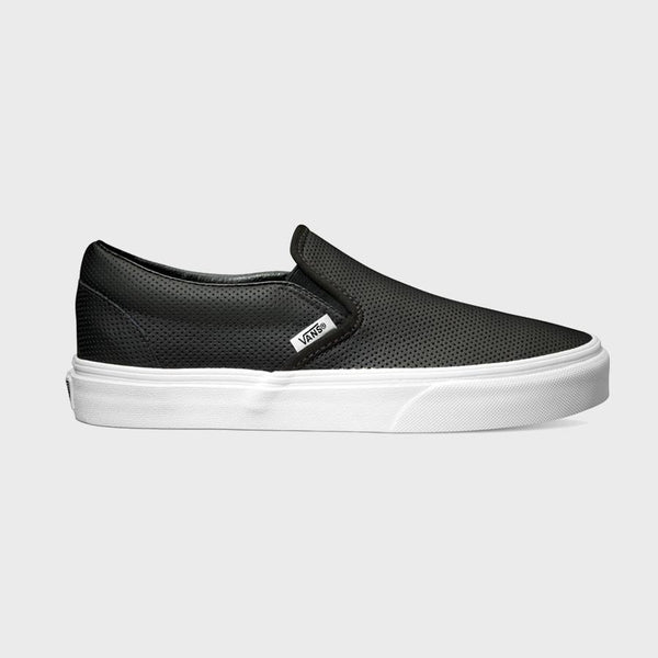 product: Vans Classic Slip-On Perf Leather Black