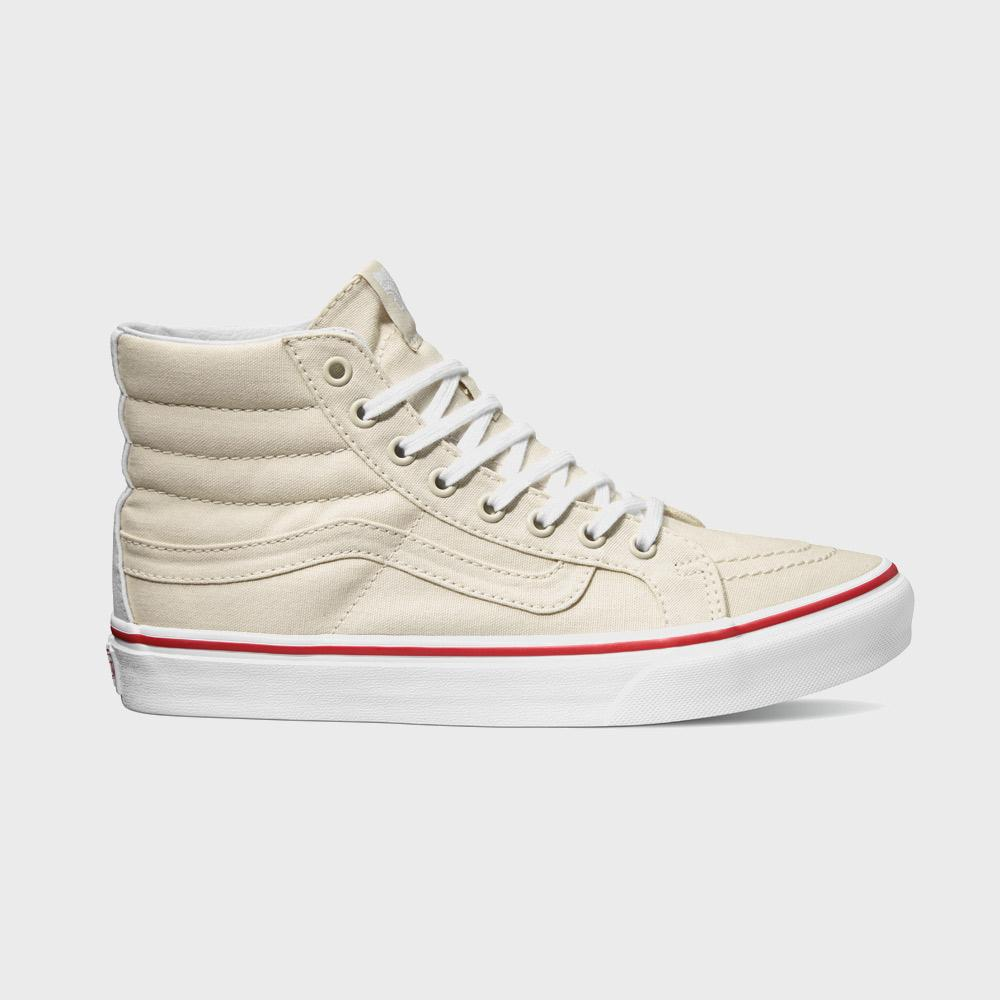 dc2cf2081e Vans Women s Sk8-Hi Slim (Leather Canvas) Bone   True White – Wayward