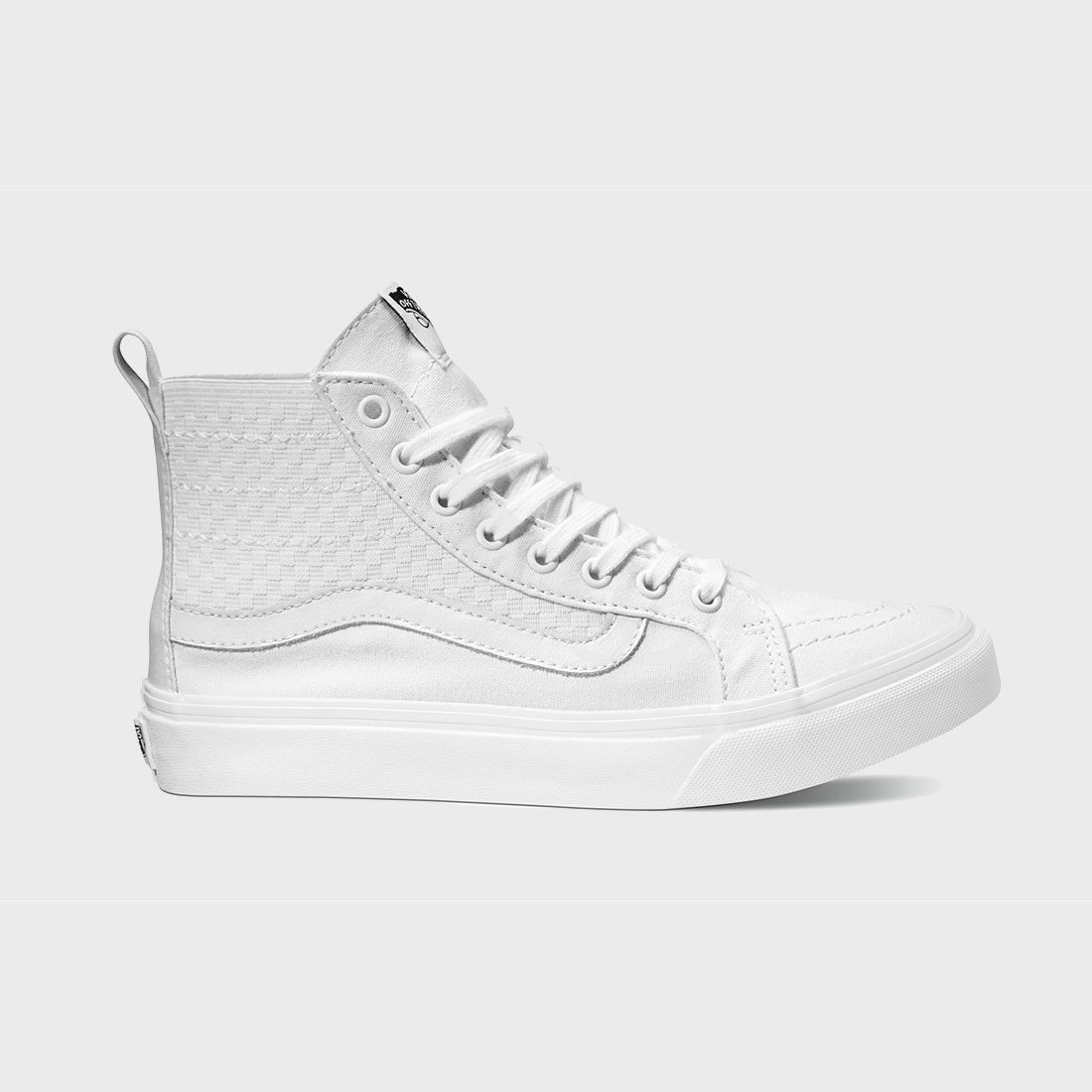 c8b4914e65 Vans Women s Sk8-Hi Slim Gore Checker True White – Wayward