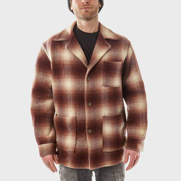 product: Vintage Penney's Jacket Brown Plaid