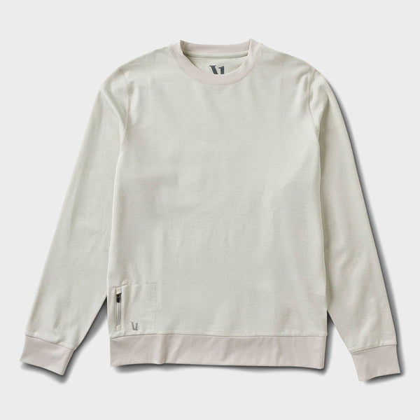 product: Vuori Ponto Performance Crew Dove Grey Heather