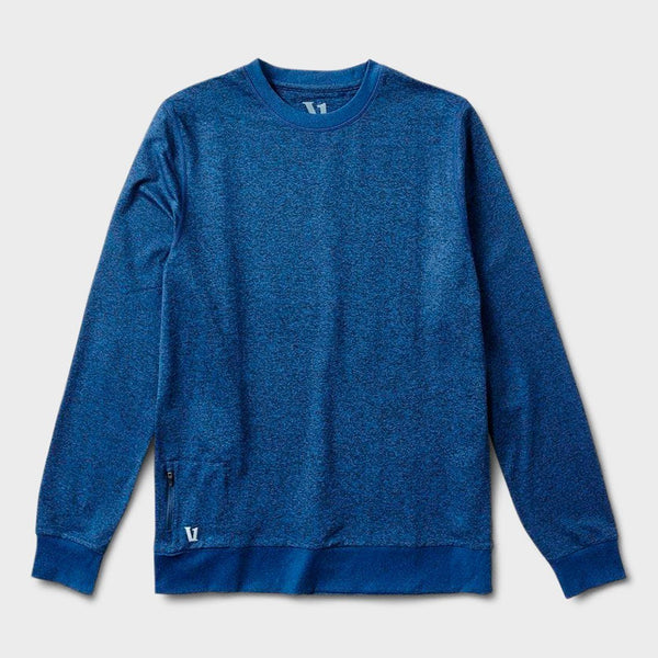 product: Vuori Ponto Performance Crew Navy Heather