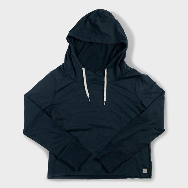 product: Vuori Women's Sequoia Crop Hoodie Ink
