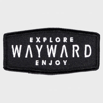 product: Wayward Explore/Enjoy Patch Black