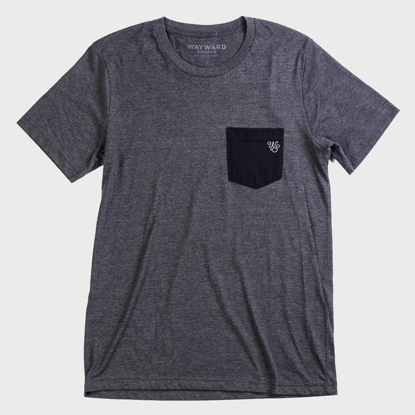 product: Wayward Stock Sketchy Guys Pocket Tee Charcoal