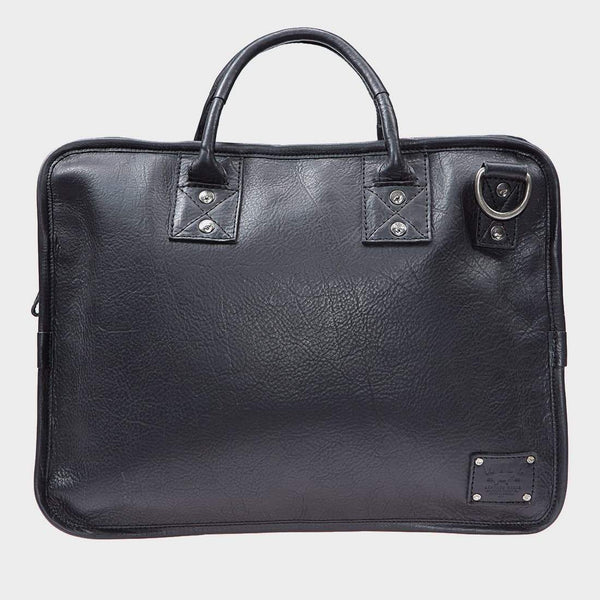 product: Will Leather Goods Hank Satchel Black