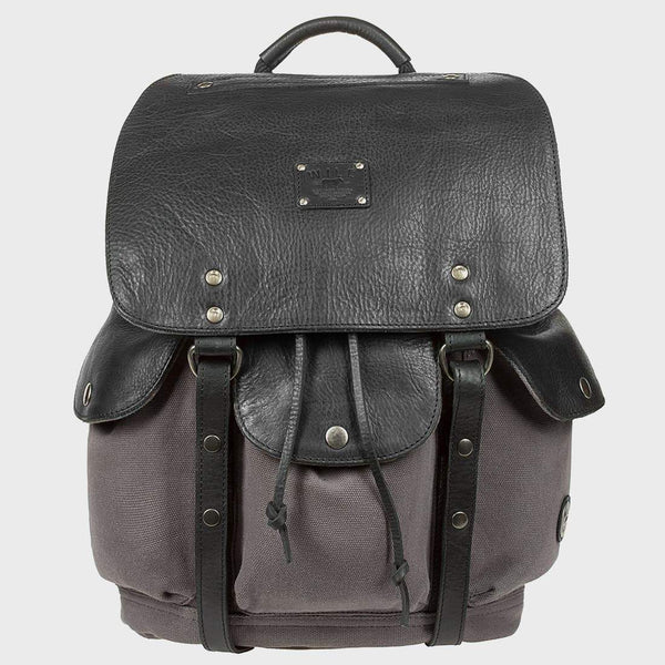 product: Will Leather Goods Lennon Backpack Grey/Black
