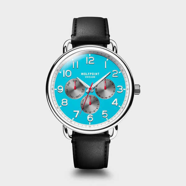 product: Wolfpoint Fort Dearborn Watch Chicago Blue/ Black Strap