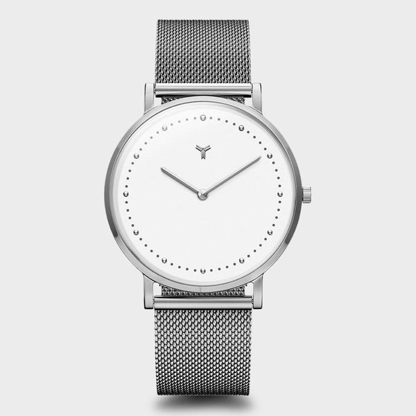 product: Wolfpoint Hampden Watch Polished Silver Stainless Steel