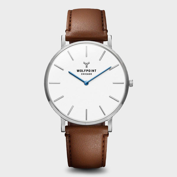 product: Wolfpoint Princeton Horween Watch Brown Leather