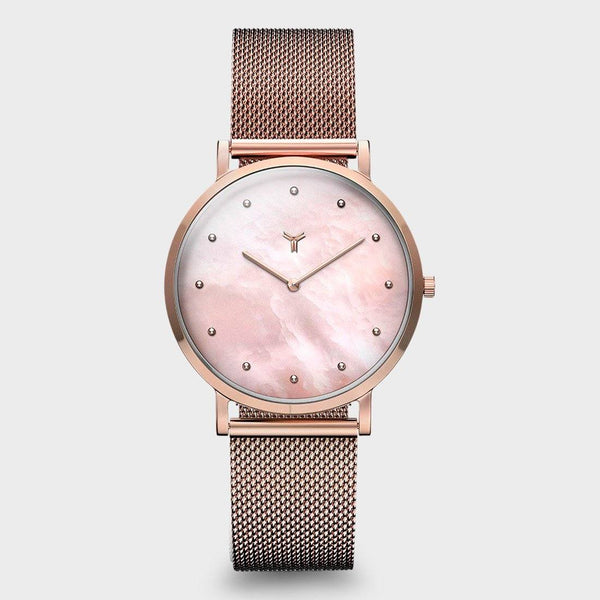 product: Wolfpoint Women's Hermosa Milanese Rose Gold