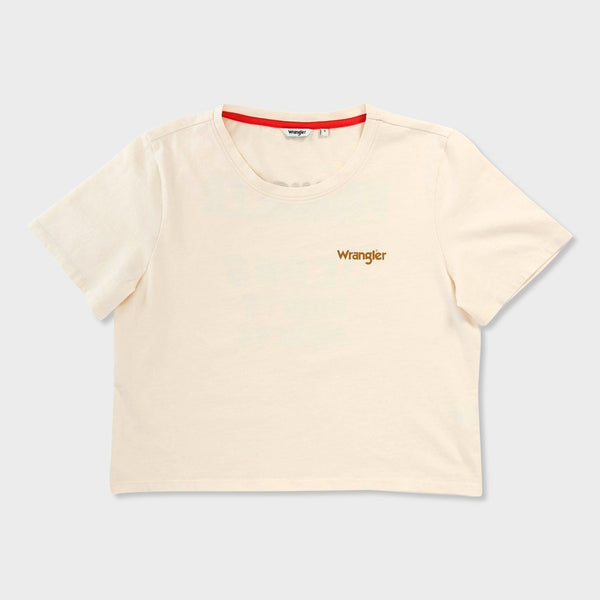 product: Wrangler Women's Crop T-Shirt Natural
