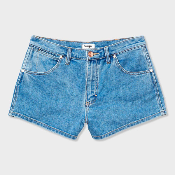 product: Wrangler Women's Hemmed Shorts Medium Stone