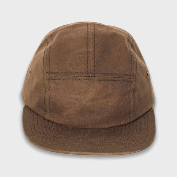 product: Yellow 108 Euclid 5 Panel Cap Olive Waxed