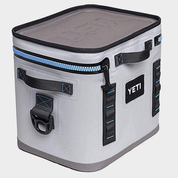 product: Yeti Hopper Flip 12 Soft Cooler Grey/Tahoe Blue
