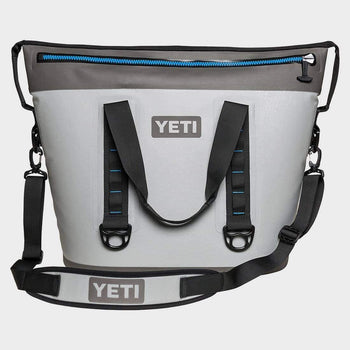 product: Yeti Hopper Two 40 Soft Cooler Grey/Tahoe Blue