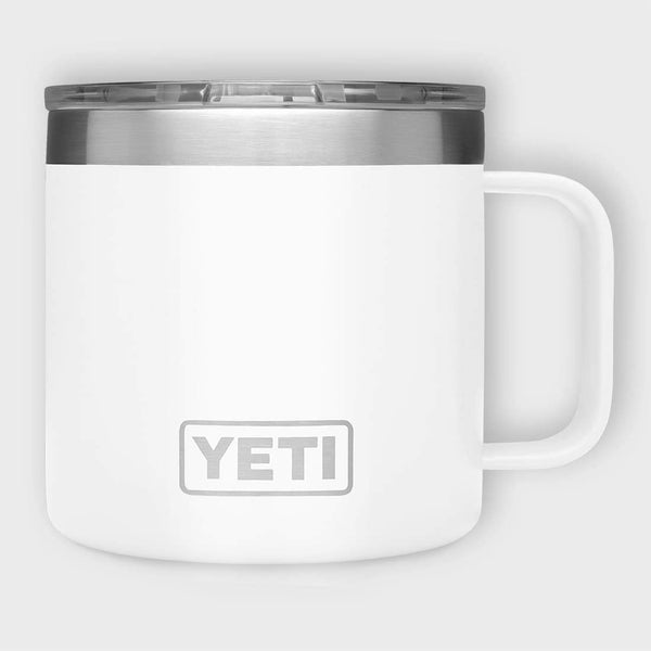 product: Yeti Rambler 14oz Mug White