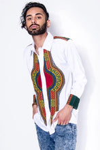 White Dashiki Royalty Top
