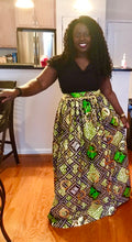 Gold and Green Osikani Royalty Skirt